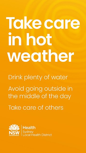 Take care in hot weather
