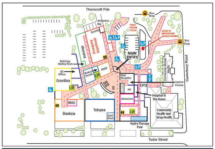 SLHD - Canterbury Hospital - Maps and Directions Map From To Directions on maps and stuff, google map from to, maps of caves in colorado,