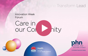Innovation Week: Care in Our Community