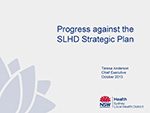 Progress Against the SLHD Strategic Plan