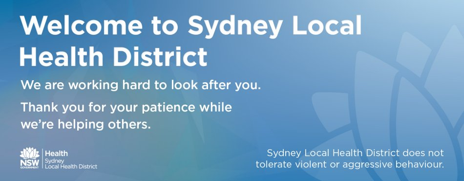 Welcome to Sydney Local Health District