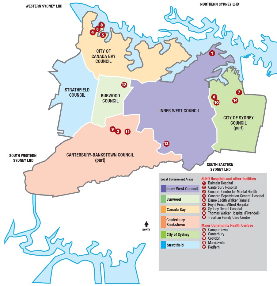 Canada Bay Council Zoning Map SLHD Planning